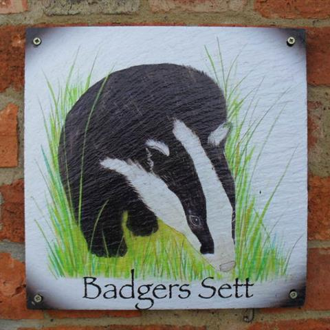 Badgers Sett Door Sign
