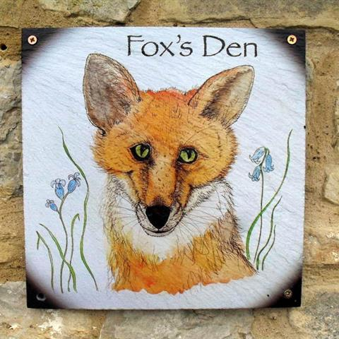 Foxes Den Door Sign