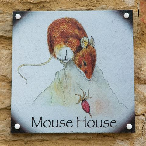 Mouse House Door Sign