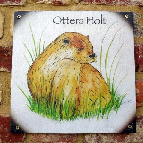 Otters Holt Door Sign