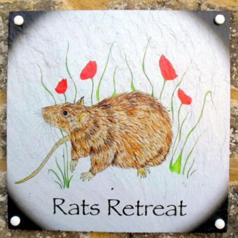Rats Retreat Door Sign
