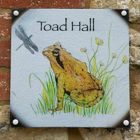 Toad Hall Door Sign